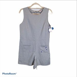 Junk Food + Mickey romper with back neck ties